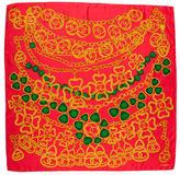 Chanel Chain Clover Silk CC Scarf