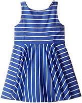Polo Ralph Lauren Yarn-Dyed Cotton Sateen Stripe Dress (Toddler)