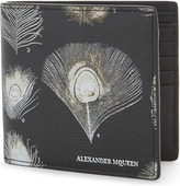 Alexander McQueen Peacock textured leather wallet