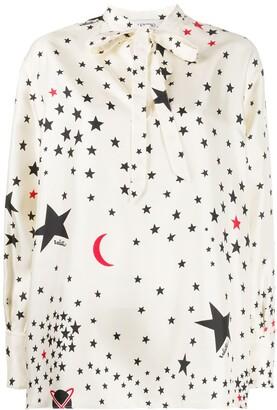 Valentino Star-Print Blouse