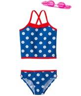 Jump N Splash Girl's Pretty Polka Dot TwoPiece Swimsuit w/ Free Goggles (4-6X) - 8143022
