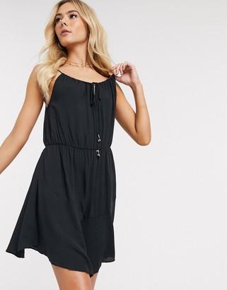 Free People Shake It Up slip dress-Black