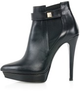 Kim Kwang Calf Leather Ankle Boots Black