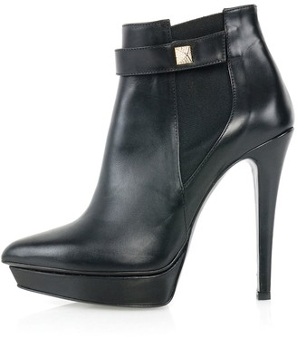 Calf Leather Ankle Boots Black