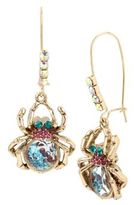 Betsey Johnson Crystal Halloween Spider Dangle & Drop Earrings
