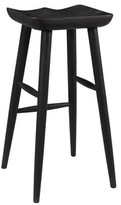 """Fredric Solid Wood Bar & Counter Stool Millwood Pines Color: Black, Seat Height: Bar Stool (28"""" Seat Height)"""