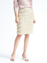 Banana Republic Heritage Fringe Pencil Skirt