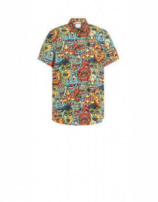 Moschino Monsters Poplin Shirt Man Multicoloured Size 39 It