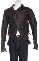 Boris Bidjan Saberi Asymmetrical Leather Jacket w/ Tags