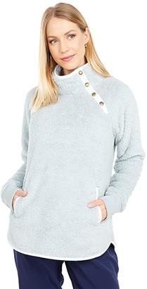 Southern Tide Laura Fleece Pullover (Gravel Grey) Women's Clothing