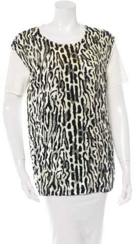 Giambattista Valli Silk Leopard Print Top w/ Tags