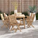 Anthony Logistics For Men Foundstone Outdoor Patio 7 Piece Teak Dining Set Foundstone