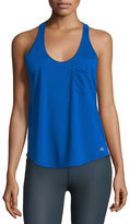 Alo Yoga Extreme Racer Mesh Sport Tank Top, Blue