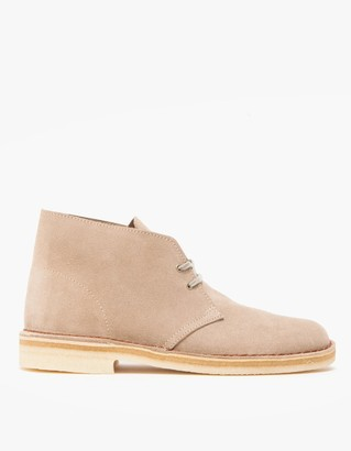 Clarks Men's Desert Boot in Sand Suede, Size 8 | Leather