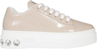 Miu Miu Vernice Platform Sneakers