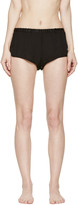 Araks Black Washed Silk Jada Shorts