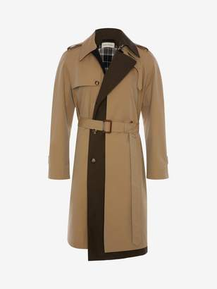 Alexander McQueen Trompe-l'il Layered Trench Coat