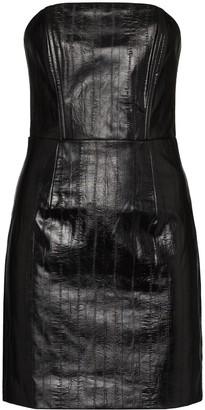 Rotate by Birger Christensen Herla vegan leather mini dress