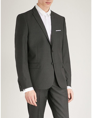 The Kooples Men's Gry03 Single-Breasted Wool Jacket, Size: 44