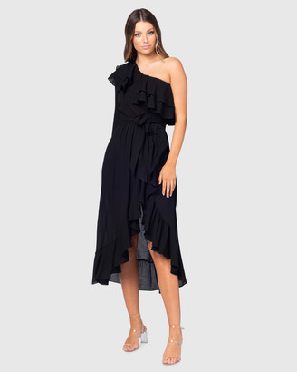 Pilgrim Women's Black Midi Dresses - Sevron Dress - Size One Size, 8 at The Iconic