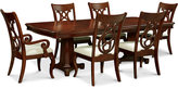 Bordeaux Pedestal 7-Pc. Dining Set (Dining Table, 4 Side Chairs and 2 Arm Chairs)