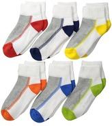 Jefferies Socks Performance Tech Sport Quarter 6-Pack Boys Shoes