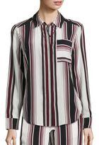 Splendid Luxe Striped Silk Shirt