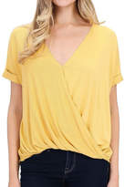 Double Zero That's-A-Wrap Mustard Top