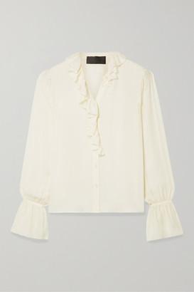 Nili Lotan Cecily Ruffled Silk-georgette Blouse - Ivory