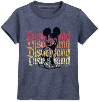 Disney Mickey Mouse Flocked T-Shirt for Kids Disneyland