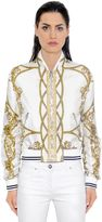 Versace Iconic Print Twill Silk Bomber