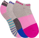 Running Bare Racing Stripes Triple Pack Socks