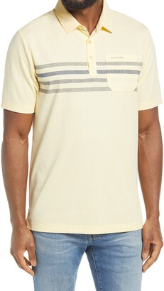 Travis Mathew From the Top Rope Slim Fit Short Sleeve Polo
