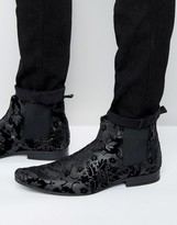 Asos Chelsea Boots In Black Tapestry
