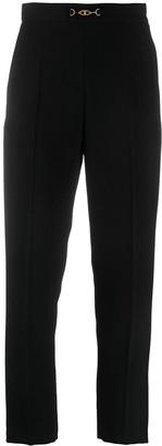 Elisabetta Franchi Cropped Straight-Leg Trousers