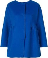 Ermanno Scervino cape style coat - women - Cupro/Virgin Wool - 40