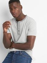 Gap Stripe short sleeve henley