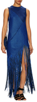 Proenza Schouler Asymmetrical Slim Fit Fringe Dress