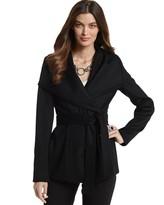 White House Black Market Brushed Wool Wrap Coat