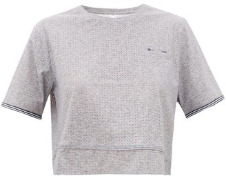 The Upside Whitney Cropped Stretch-technical T-shirt - Grey