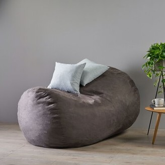 Grove Lane Maltby Extra Large Bean Bag Cover Grovelane Upholstery Color: Charcoal