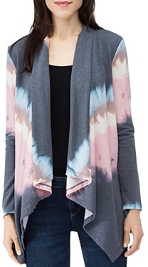 B Collection by Bobeau Amie Tie-Dye Draped Open Cardigan