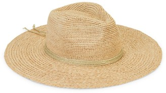 Hat Attack Essential Continental Metallic-Trim Raffia Panama Hat