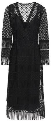 Alberta Ferretti Fringed Guipure Lace Dress