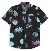 Volcom Boy's Cosmic Short Sleeve Woven Shirt