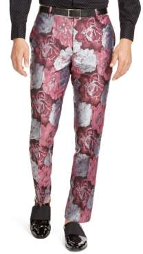 INC International Concepts Inc Men's Slim-Fit Smoked Rose Jacquard Pants, Created For Macy's