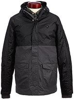 Hurley Westside Tonal Color Block Hooded Twill Parka Jacket