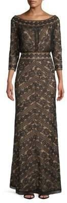 Tadashi Shoji Sequined Lace Gown