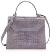 Nancy Gonzalez Medium Lily Crocodile Top Handle Bag