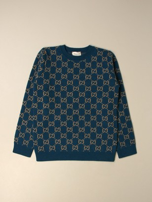 Gucci Wool Sweater With Gg Supreme Motif